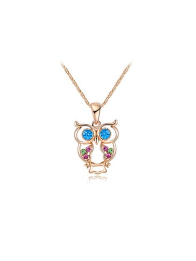 All-match Owl Shaped Austria Crystal Necklace