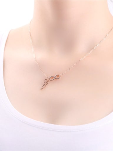 Hollow Simple Geometric digital Clavicle Necklace