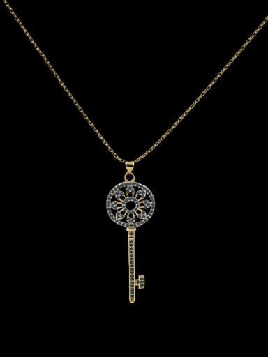 Sun Flower Key Necklace
