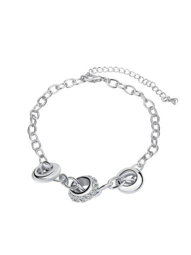 High-quality Geometric Shaped Platinum Plated Bracelet