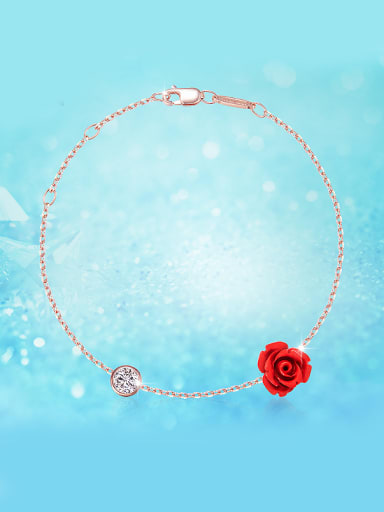 Rose Gold Flower-shaped Bracelet