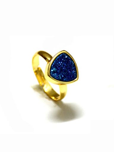Fashion Triangle Natural Crystal Opening Ring
