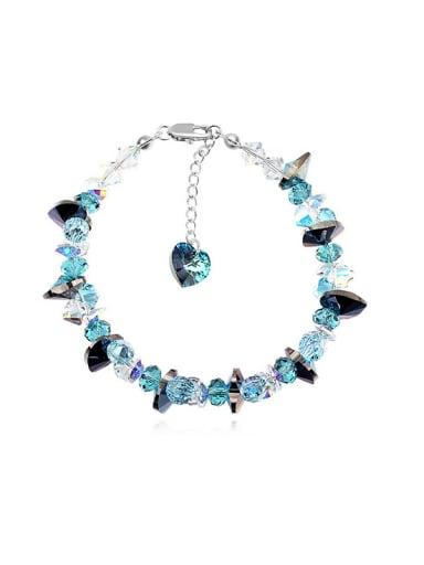 Fashion Shiny Irregular Swarovski Crystals Alloy Bracelet
