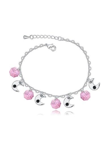 Simple Four Little Moons Patterns Swarovski Crystals Alloy Bracelet