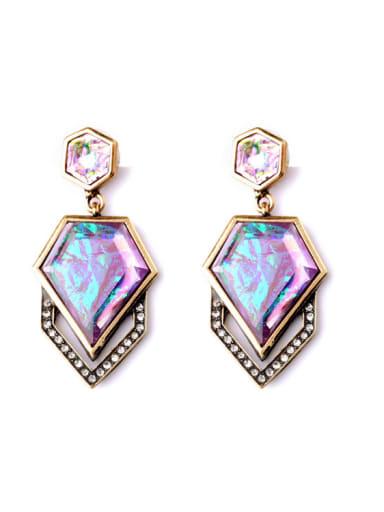 Luxurious Irregular Artificial Stones drop earring