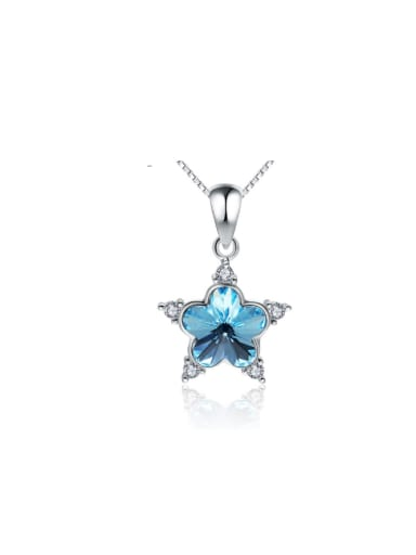 Creative Plum Blossom Color Crystal Pendant
