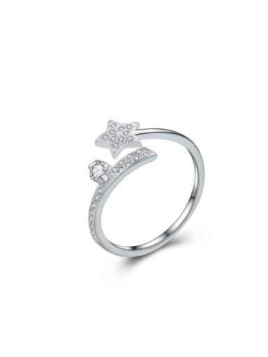 Lovely Star Zircons Valentine's Day Gift Opening Ring