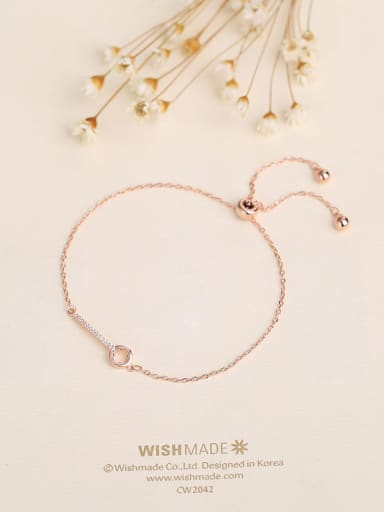 Rose Gold Plated Key Shaped Bracelet