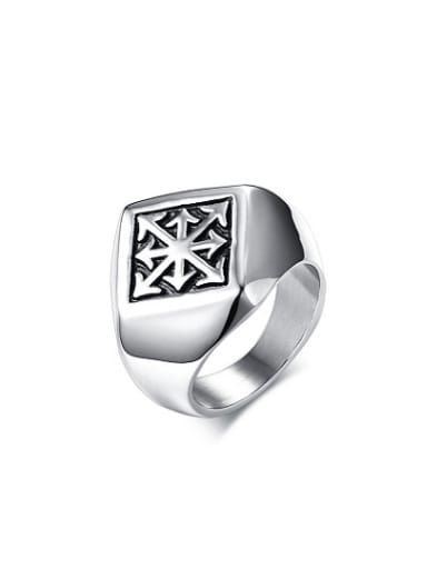 Personality Geometric Shaped Stainless Steel Men Ring