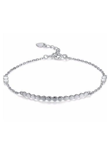 Simple 925 Sterling Silver Women Bracelet