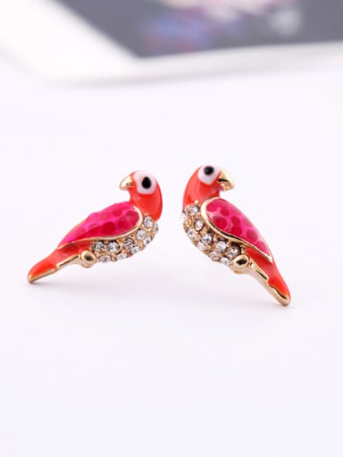 Alloy Gold Plated Small Lovely Bird stud Earring