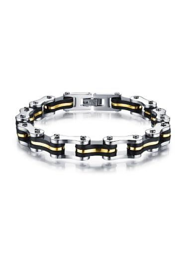 Personalized Titanium Men Bracelet