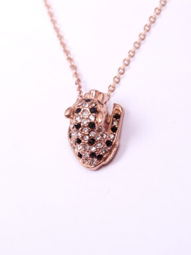 Personalized Casting Leopard Head Necklace