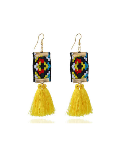 Exquisite Hand Embroidery Tassels Stud Earrings