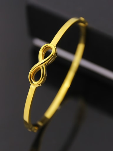 Exquisite 8 Shaped Simple Style Opening Bangle