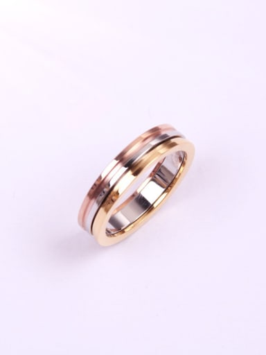 Three Colors Plated Lover Ring