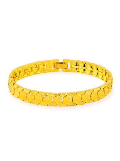 Delicate 24K Gold Plated Geometric Shaped Copper Bracelet