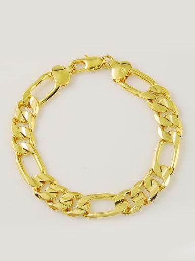 Men Personality Hollow Geometric Shaped Copper Bracelet