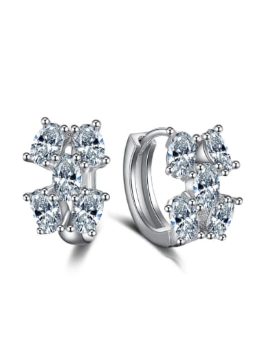AAA Zircons Exquisite Fashion Clip Earrings