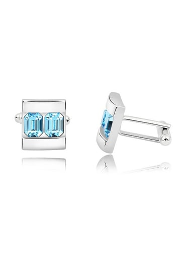 Fashion Little Swarovski Crystals Alloy Men Cufflinks