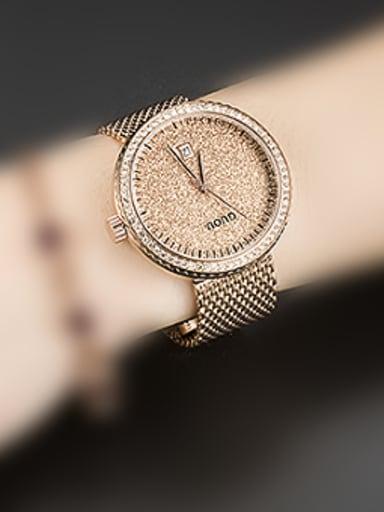 GUOU Brand Luxury Numberless Women Watch