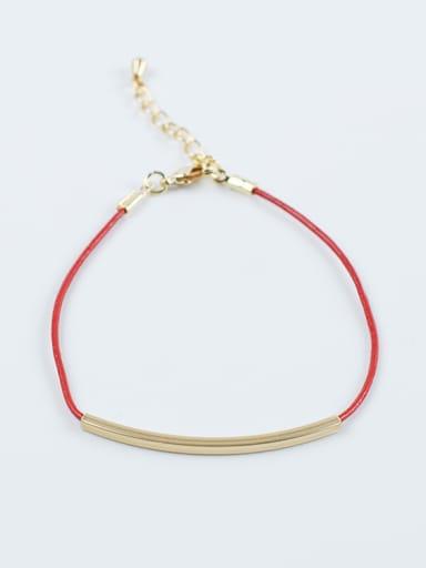 Trendy Geometric Shaped Artificial Leather Bracelet