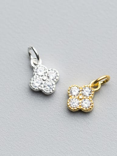 925 Sterling Silver With 18k Gold Plated Delicate Flower Charms