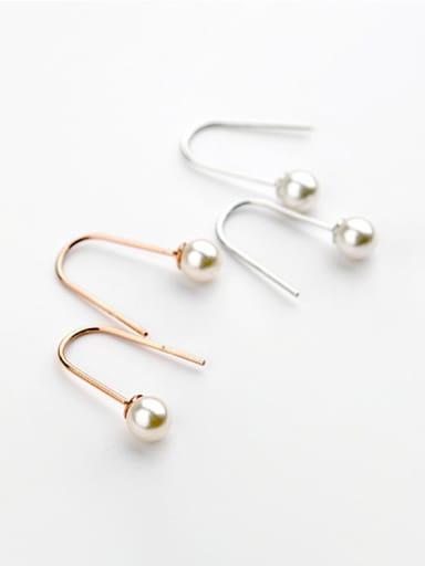 Fashion U-style imitation pearl  Earrings