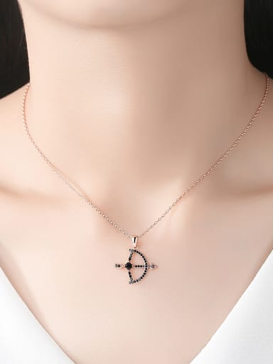 Copper With Cubic Zirconia Vintage Bow And Arrow Necklaces