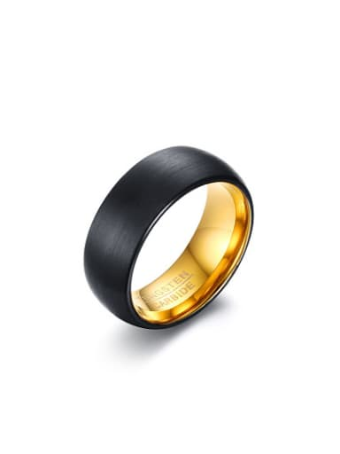 Fashionable Black Gun Plated Tungsten Ring