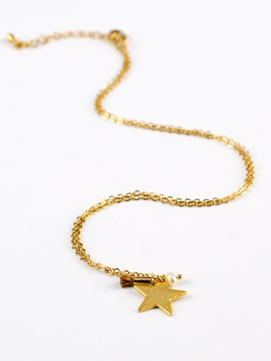 16K Gold Plated Star Shaped Necklace