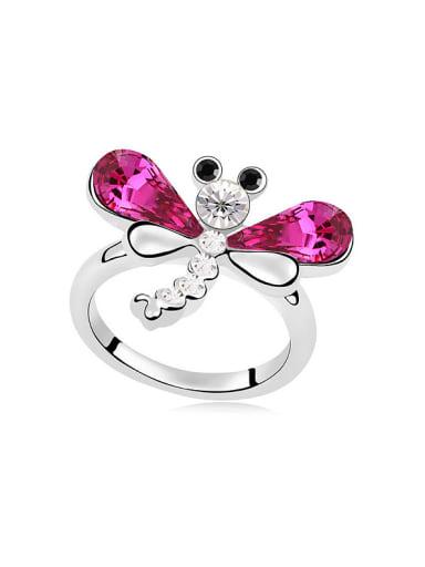 Fashion Dragonfly Swarovski Crystals Alloy Ring