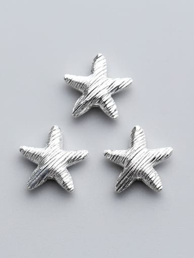 925 Sterling Silver With Silver Plated Personality Star Beads