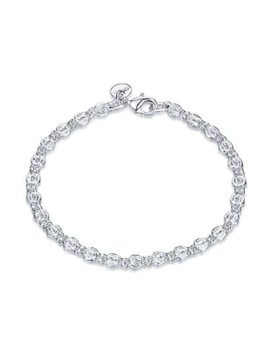 Simple Fashion Silver Plated Bracelet