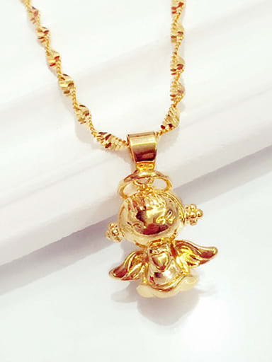 Women Delicate Angel Shaped Necklace