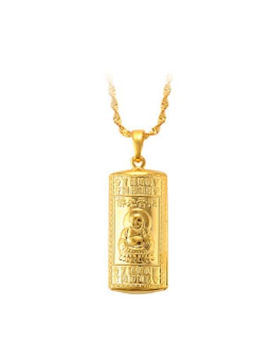 Ethnic style Gold Plated Religious Pendant