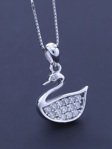 All-match Swan Necklace