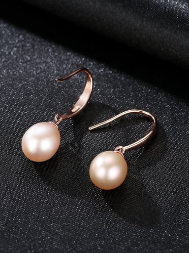 Sterling Silver classic natural freshwater pearl earrings