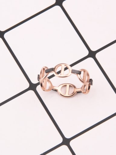 Irregular Geometric Women Titanium Ring