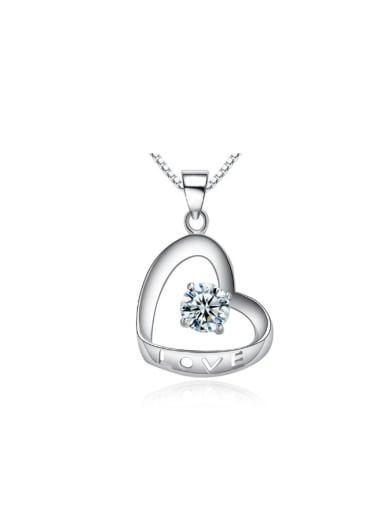Romantic Hollow Love Crystal Fashion Pendant