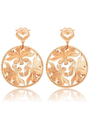 Hollow  Round Shaped New Design Fashion Drop Earrings