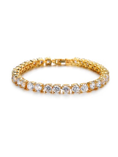 Simple Cubic Zircon-coverd Bracelet