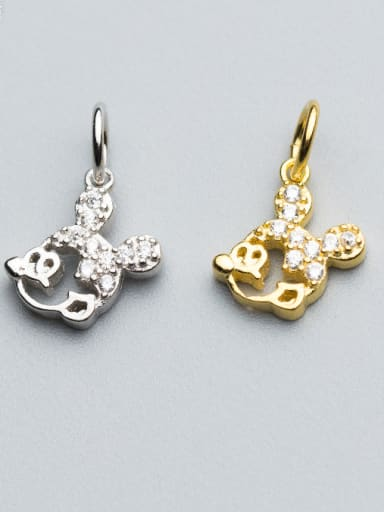 925 Sterling Silver With 18k Gold Plated Cute Mickey Charms