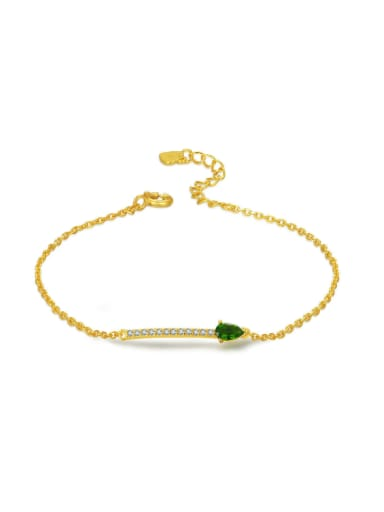 Simple Arrow Shaped Accessories Gold Plated Bracelet