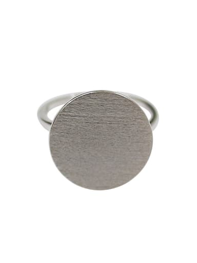 Simple Round Silver Smooth Ring