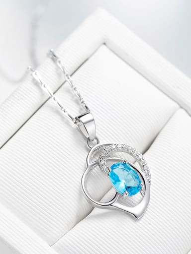 925 Silver Swarovski Zircon Necklace