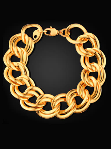 18K Gold Plated Exaggerated Bracelet