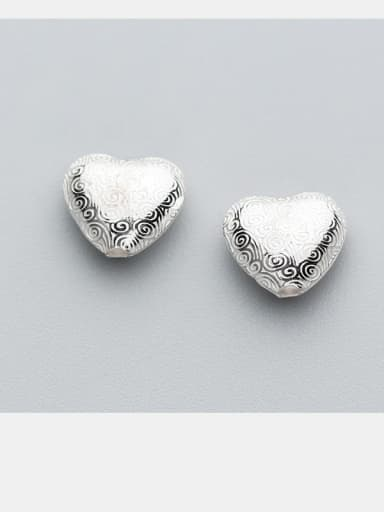 925 Sterling Silver With Silver Plated Simplistic Heart Charms