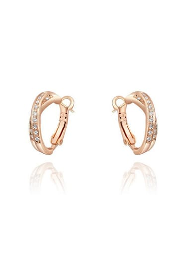 Elegant Austria Crystal Gold Plated Clip On Earrings