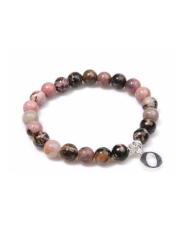 Letter Alloy Accessories Semi-precious Stones Bracelet
